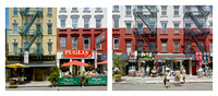 Diptych: Hester St. Little Italy: Cafes & Souvenirs ( (Composite images).  New York City. 2015