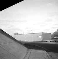 Under the Hiawatha Ave (Hwy 55) Overpass at Franklin Ave,  Minneapolis. March 1976