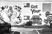 "Marilyn Monroe and ""Get your kicks on Route 66"" mural, Ramada Inn, Kingman, AZ. March 2017"