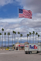 Large flag at Terrible's Truck Stop, Havasu City, AZ. March 2017