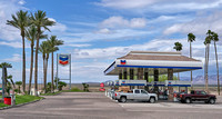 Gas station at intersection of I-40 and AZ 95, Lake Havasu City, AZ. March 2017